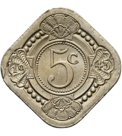 Curacao 5 centów 1943