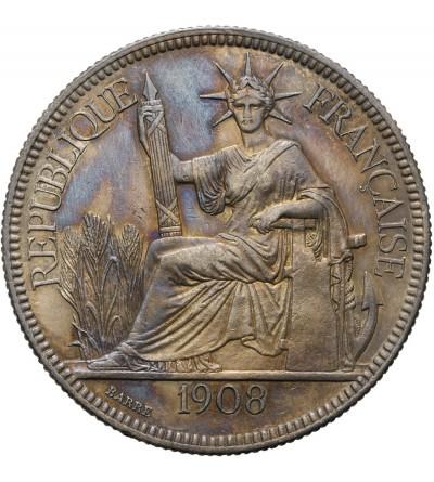 Indochiny Francuskie 1 piastre 1908 A