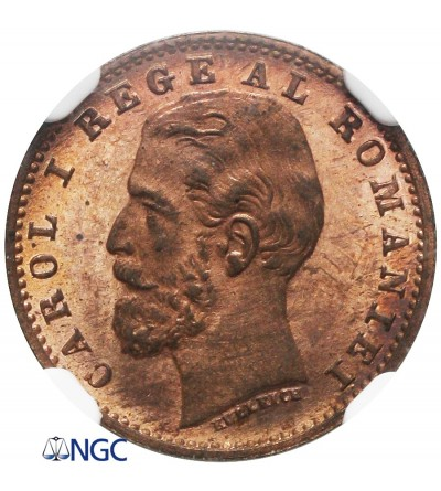 Rumunia 1 ban 1900 B, Proof - NGC PF 64 RB