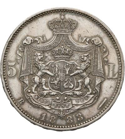 Rumunia 5 Lei 1883 B