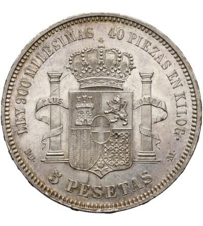 Hiszpania 5 Pesetas 1871 (71), SD-M