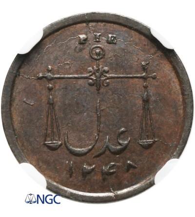Indie Brytyjskie 1 Pie 1833, Bombaj - NGC MS 63 BN