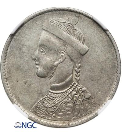 Tybet 1 rupia bez daty (1911-1933) - NGC AU 53