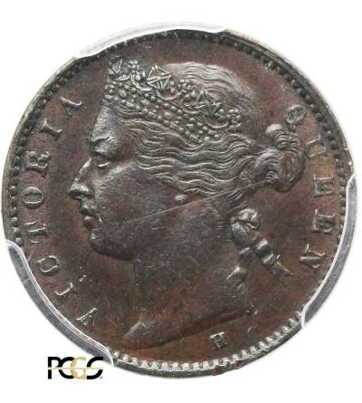 Straits Settlements 1/4 Cent 1872 H - PCGS AU 58