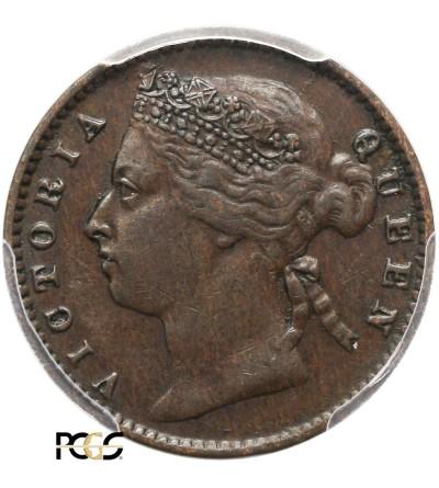 Straits Settlements 1/4 Cent 1884 - PCGS AU 50