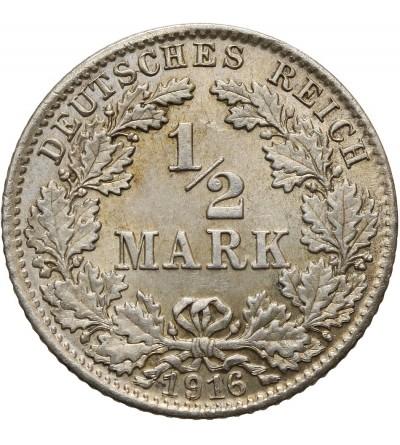 Niemcy. Cesarstwo. 1/2 marki 1915 D