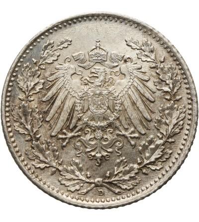 Niemcy. Cesarstwo. 1/2 marki 1918 D