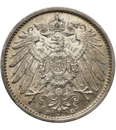 Niemcy. Cesarstwo. 1 marka 1908 D