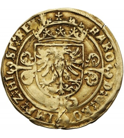 Belgia. Brabant 1/2 Real d'or bez daty, Antwerpia. Karol V 1506-1555