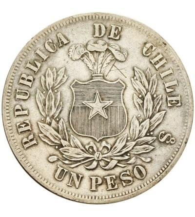 Chile 1 peso 1875