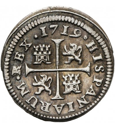Hiszpania 1/2 Real 1719 Cuenca JJ
