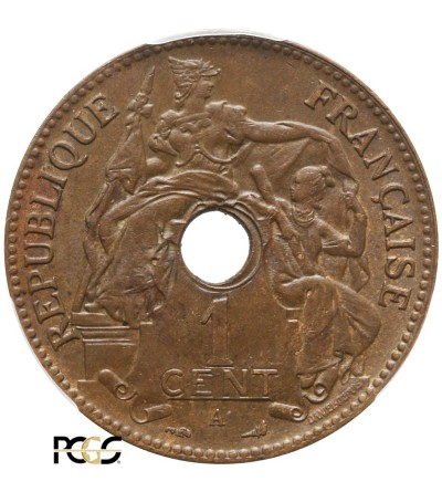 Indochiny Francuskie 1 cent 1902 A - PCGS MS 64+ BN