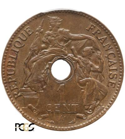 Indochiny Francuskie 1 cent 1902 A - PCGS MS 64+ BN
