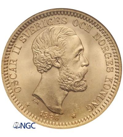 Szwecja 20 koron 1886 EB - NGC MS 66