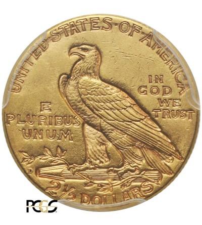 USA 2,5 dolara 1925 D, Quartel Eagel - Indian Head - PCGS MS 61