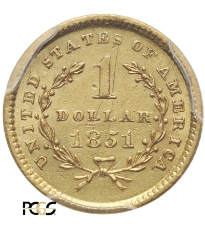 USA 1 dolar 1851, Liberty Head - PCGS AU 58