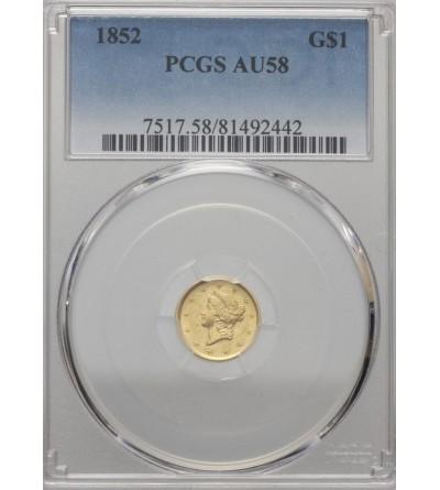 USA 1 dolar 1852, Liberty Head - PCGS AU 58