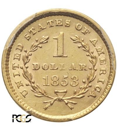 USA 1 dolar 1853, Liberty Head - PCGS AU 58