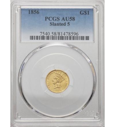 USA 1 dolar 1856, Indian Head - PCGS AU 58