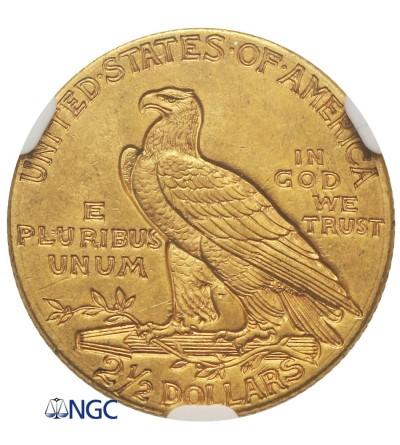 USA 2,5 dolara 1912, Quartel Eagel - Indian Head - NGC MS 61