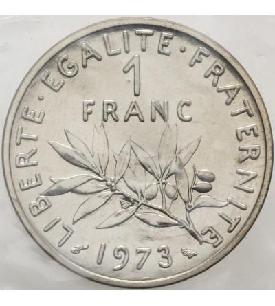 Francja 1 frank 1973 - Piedfort