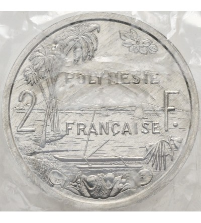 Francuska Polinezja 2 franki 1979 - Piedfort