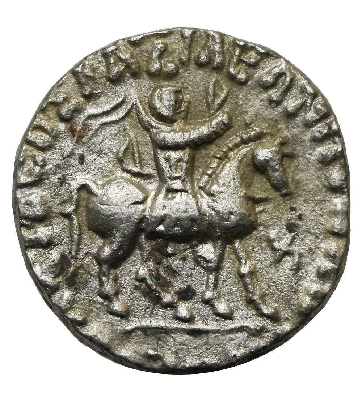 Indo-Scytyjscy królowie Baktrii, AR Tetradrachma, Azes, ok 58-12 p.n.e.