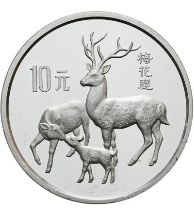 Chiny 10 Yuan 1989, Jelenie - Proof