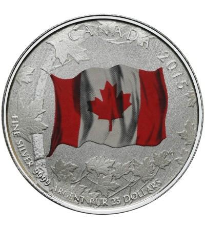 Kanada 25 dolarów 2015, Kanadyjska Flaga