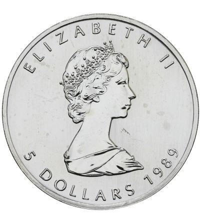 Kanada 5 dolarów 1989, Liść Klonowy