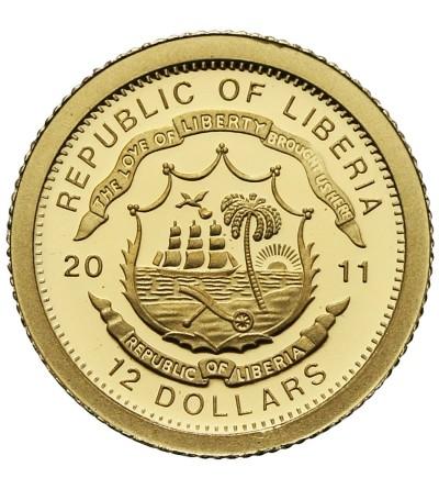 Liberia 12 dolarów 2011, Łotwa