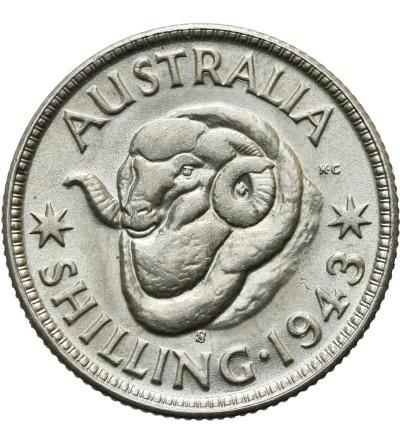 Australia 1 szyling 1943 S