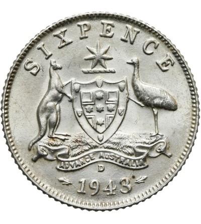 Australia 6 pensów 1943 D