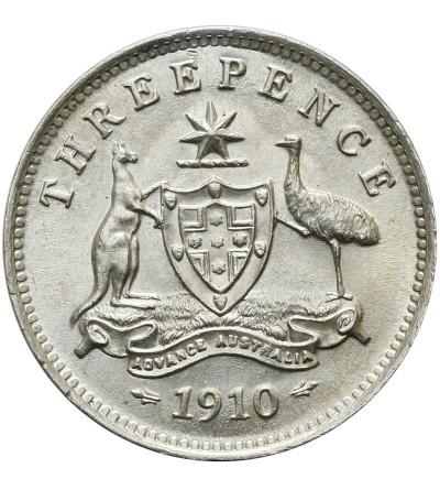 Australia 3 pensy 1910