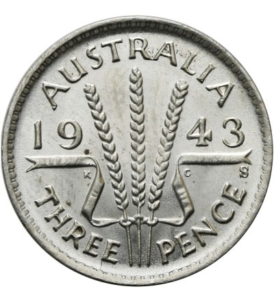 Australia 3 pensy 1943 S
