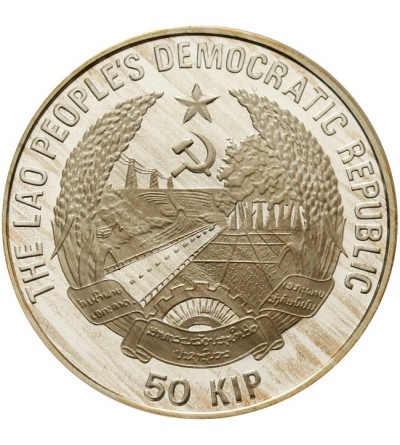 Laos 50 kip 1989 - Italy 1990