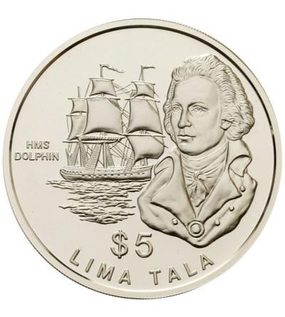 Tokelau $ 5 Tala 1989 - Kpt. John Byron i H.M.S. Dolphin