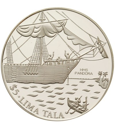 Tokelau $ 5 Lima Tala 1993 - H.M.S. Pandora