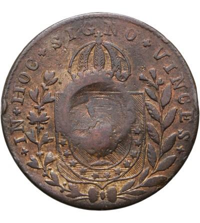 Brazylia 10 reis 1835 / 1826 R kontramarka