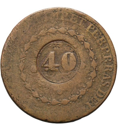Brazylia 40 reis 1835 / kontramarka