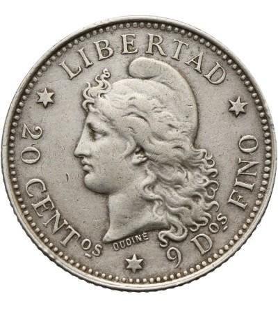Argentyna 20 centavos 1882