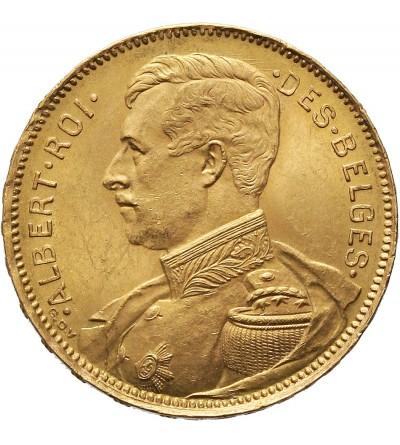 Belgia 20 franków 1914, DES BELGES