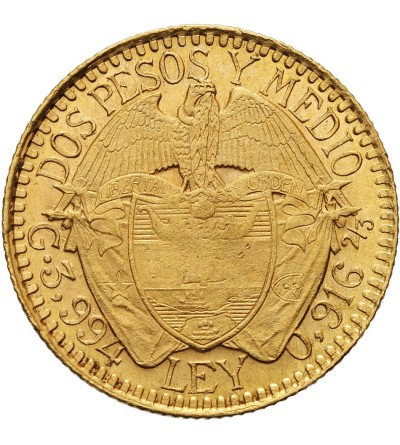 Kolumbia 2 1/2 pesos 1913