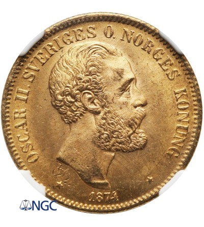 Sweden 20 Kronor 1874 ST - NGC MS 65