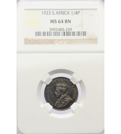 RPA 1/4 Penny (Farthing) 1923 - NGC MS 64 BN