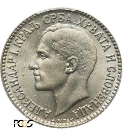Jugosławia 2 Dinara 1925 (b) - PCGS MS 66