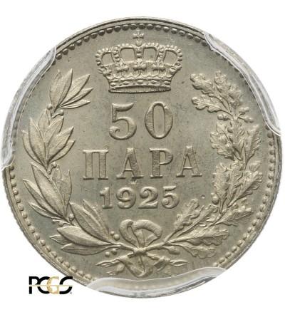 Jugosławia 50 Para 1925 (b) - PCGS MS 65
