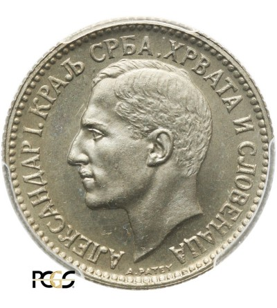Yugoslavia Dinar 1925 (b) - PCGS MS 67