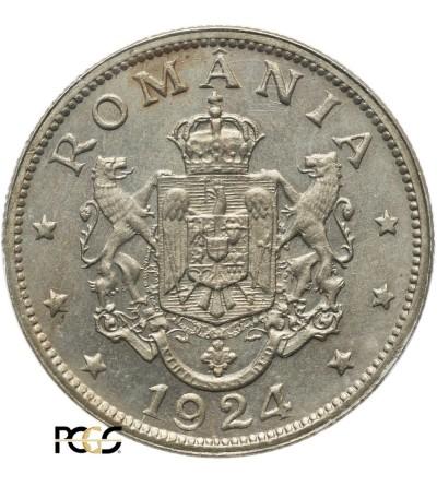 Romania 2 Lei 1924 (b) - PCGS MS 66