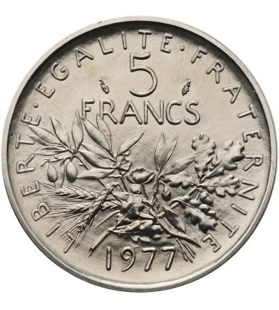 France 5 Francs 1977, Piefort
